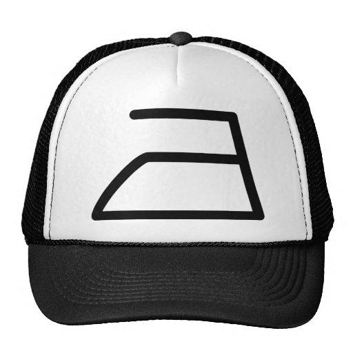 electric iron icon trucker hat