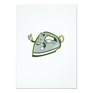 Electric Iron Mascot Thumbs Up Cartoon 4.5x6.25 Paper Invitation Card