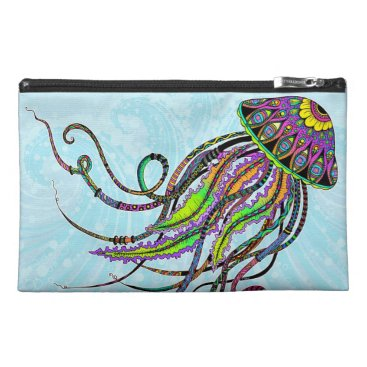 Beach Themed Electric Jellyfish Cosmetic/Accessory Bag