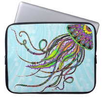 Electric Jellyfish Neoprene Laptop Sleeve