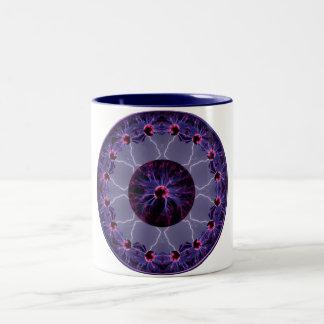 Electric Kaleidoscope Two-Tone Coffee Mug