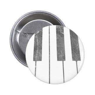 electric keyboard keys grunge scratch music 2 inch round button