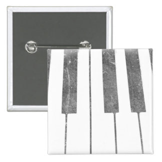 electric keyboard keys grunge scratch music 2 inch square button