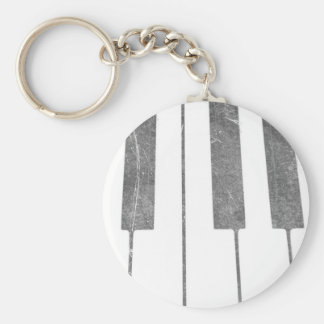 electric keyboard keys grunge scratch music basic round button keychain