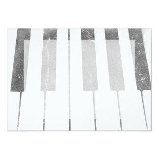 electric keyboard keys grunge scratch music card