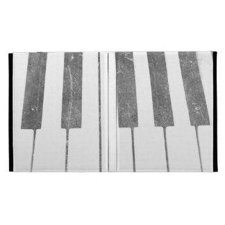 electric keyboard keys grunge scratch music iPad folio cover
