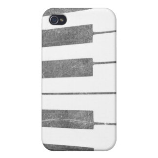 electric keyboard keys grunge scratch music iPhone 4 cover