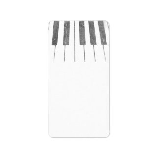 electric keyboard keys grunge scratch music address label