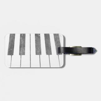 electric keyboard keys grunge scratch music luggage tags