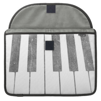 electric keyboard keys grunge scratch music MacBook pro sleeve