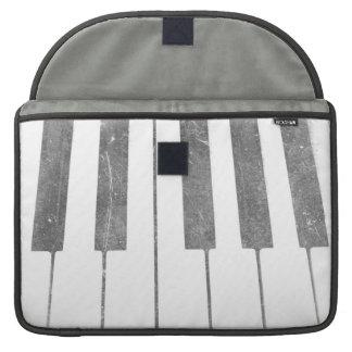 electric keyboard keys grunge scratch music sleeves for MacBook pro