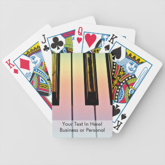 electric keyboard with rainbow overlay bicycle playing cards