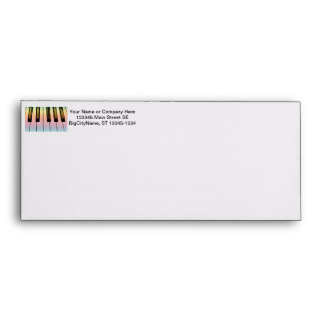 electric keyboard with rainbow overlay envelope