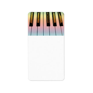 electric keyboard with rainbow overlay personalized address labels