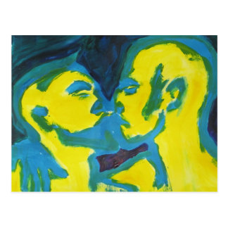 Electric Kissing Postcard