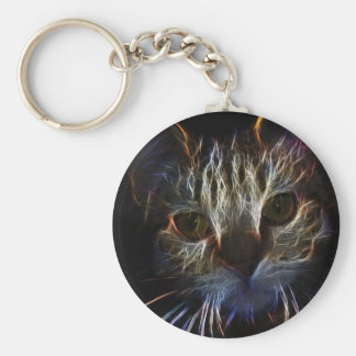 Electric Kitty Basic Round Button Keychain