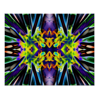 """""""Electric Kool Aid Hosta 1"""" Psychedelic Chakra Art Poster"""