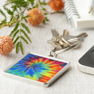 Electric Kool Aid Silver-Colored Square Keychain