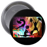 Electric Laser Show Cheerleaders Buttons