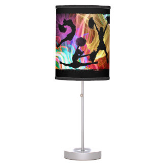 Electric Laser Show Cheerleaders Table Lamp