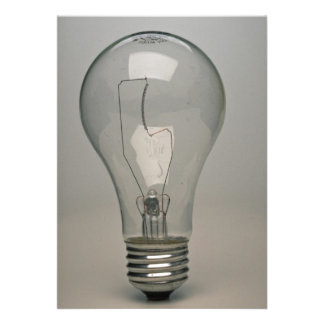 Electric Light bulb Personalized Invitations