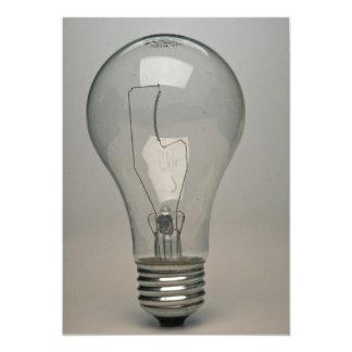 "Electric Light bulb 5"" X 7"" Invitation Card"
