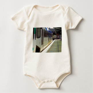 Electric Light Rail Train Close Up Baby Bodysuit