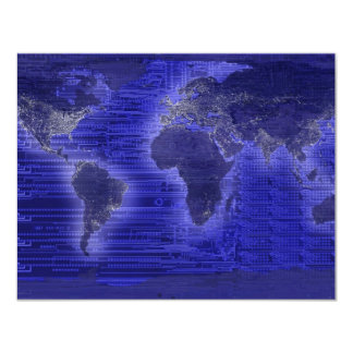electric light world map card