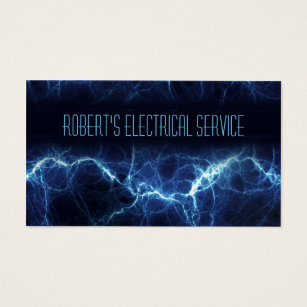 Electrician business cards templates zazzle electric lightning electrician business card flashek Image collections