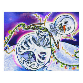 Electric Lights on Strings Panel Wall Art