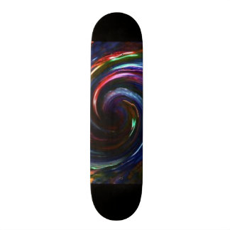 Electric Lights Swirl Skateboard-Design 1 Skateboard Deck
