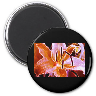 Electric Lilly 2 Inch Round Magnet