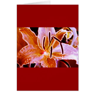 Electric Lilly Card