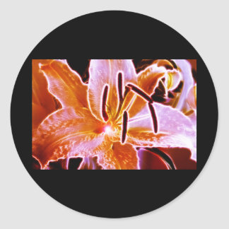 Electric Lilly Classic Round Sticker