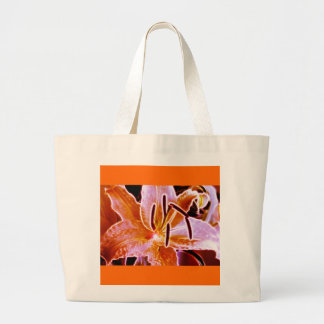 Electric Lilly Large Tote Bag