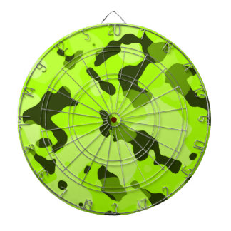 Electric Lime Camo; Camouflage Dart Boards