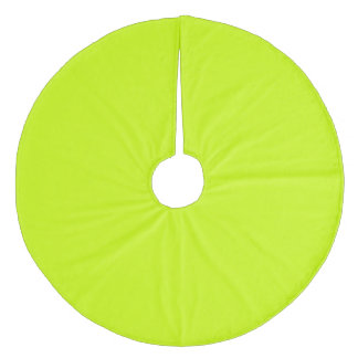 Electric Lime Exclusive One Color Fleece Tree Skirt