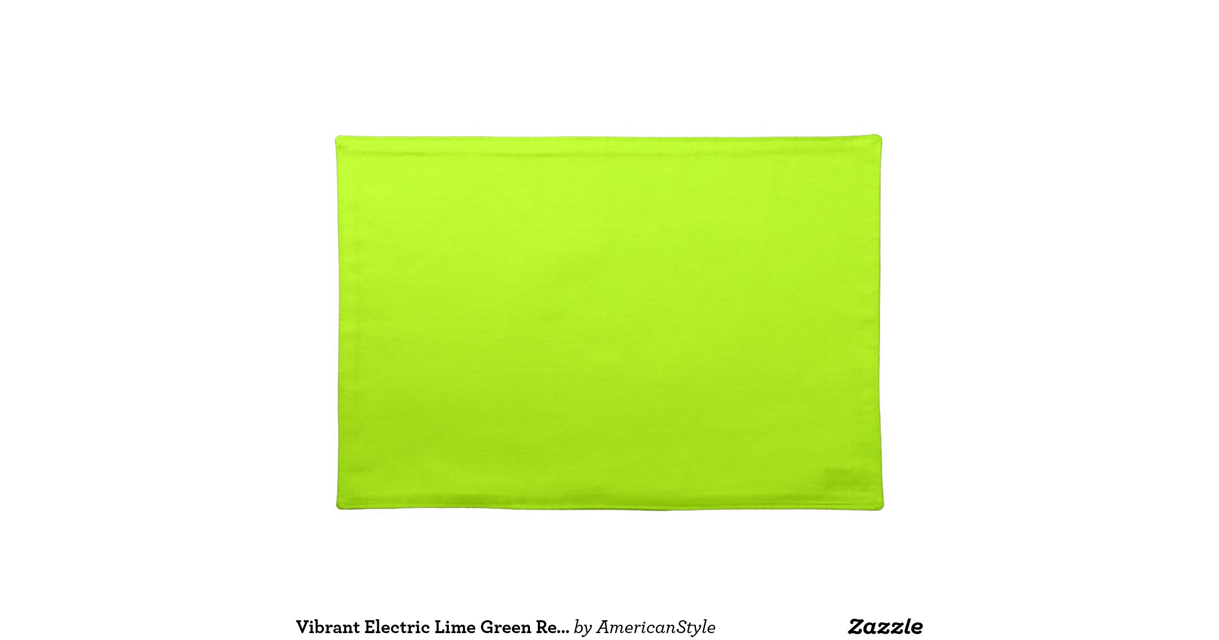 Electric Lime Green Color Ready To Customize Cloth