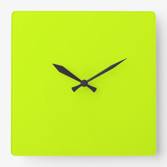 Electric Lime Green Wall Clock Zazzle