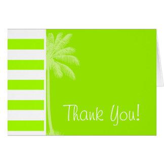 Electric Lime Horizontal Stripes; Palm Card