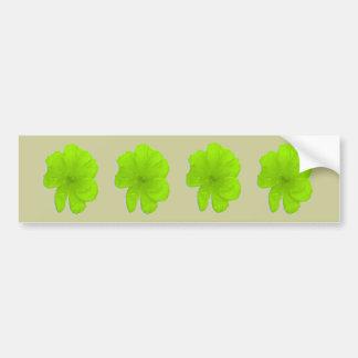 Electric Lime/ PopArt Flower Bumper Sticker
