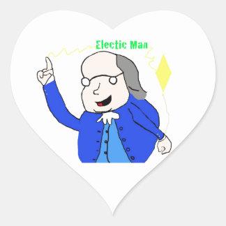 Electric Man Heart Sticker
