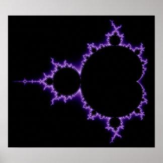 Electric Mandelbrot Set Poster