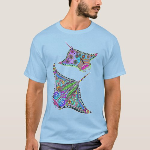 Electric Manta Rays Mens T_Shirt