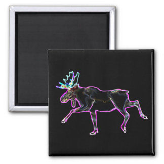Electric Moose 2 Inch Square Magnet