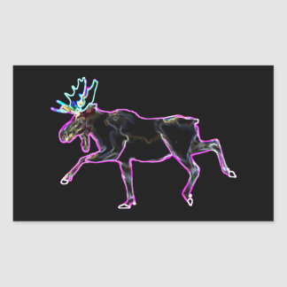 Electric Moose Rectangular Sticker