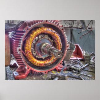 Electric Motor Breakdown. Poster