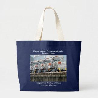 "Electric ""mules,"" Pedro Miguel Locks, Panama Canal Large Tote Bag"