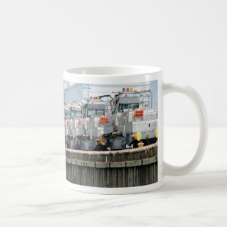"Electric ""mules,"" Pedro Miguel Locks, Panama Canal Coffee Mugs"