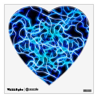 Electric Neon Blue Aqua Teal Lightning Wall Decal